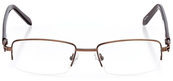 pasadena: women's rectangle eyeglasses in brown - front view