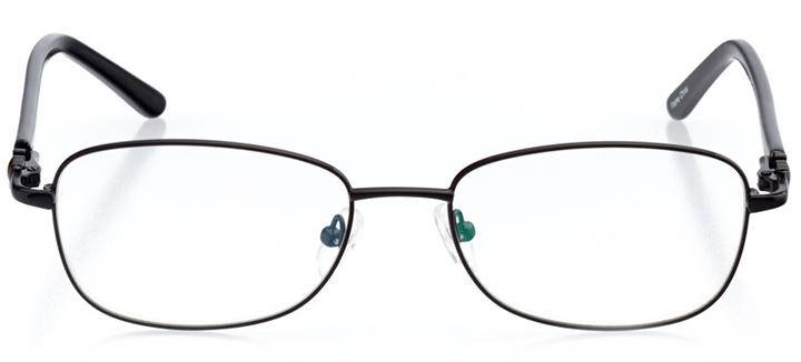las vegas: women's rectangle eyeglasses in black - front view
