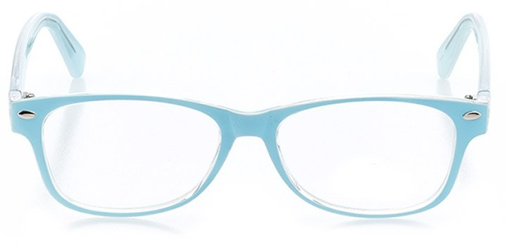 saluzzo: women's square eyeglasses in blue - front view
