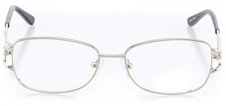 belluno: women's rectangle eyeglasses in silver - front view