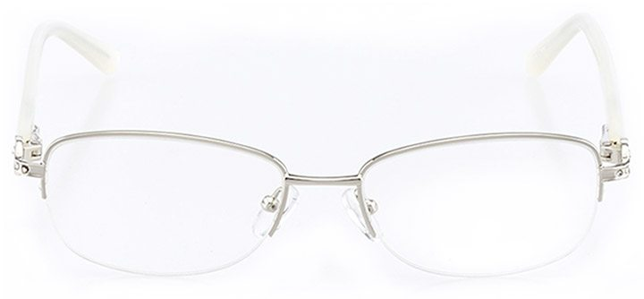 monte isola: women's oval eyeglasses in white - front view