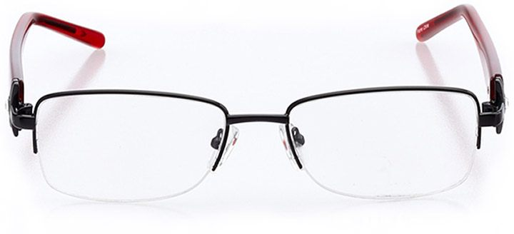 pisa: women's rectangle eyeglasses in red - front view