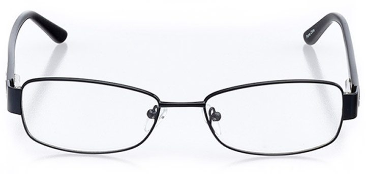 iseo: women's rectangle eyeglasses in black - front view