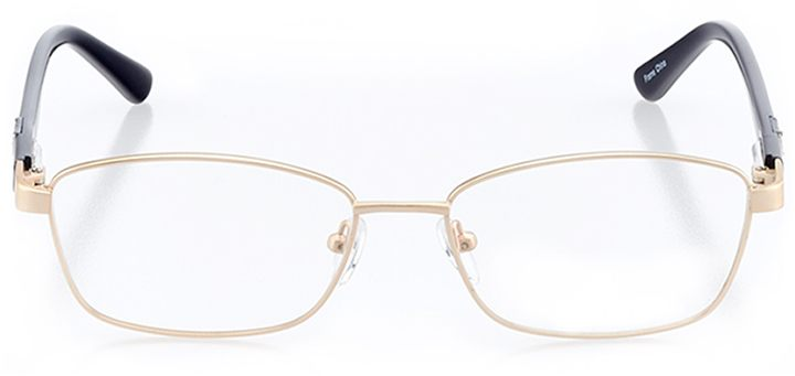 potenza: women's rectangle eyeglasses in gold - front view