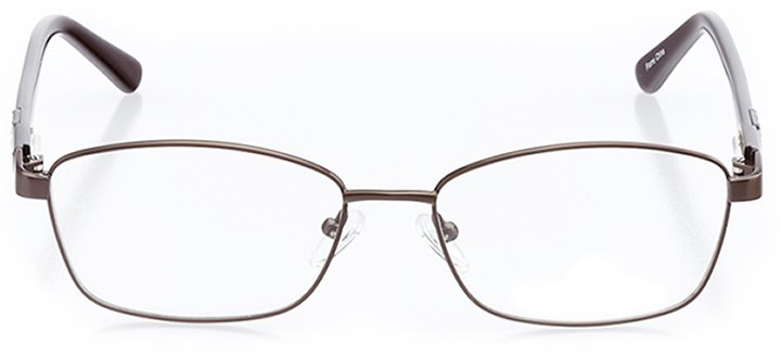 potenza: women's rectangle eyeglasses in brown - front view