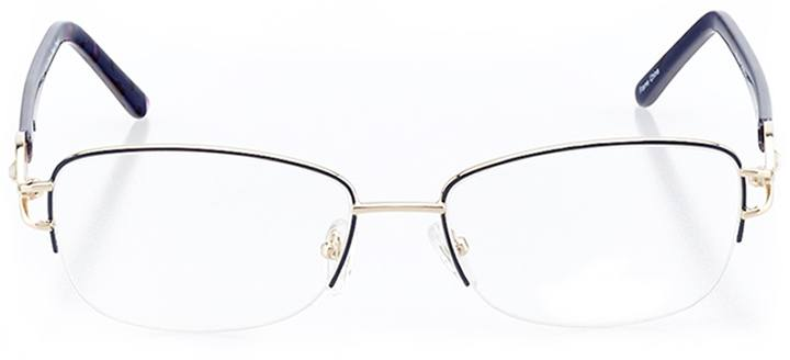 venosa: women's rectangle eyeglasses in gold - front view