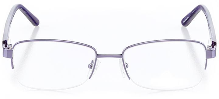 amalfi: women's rectangle eyeglasses in purple - front view