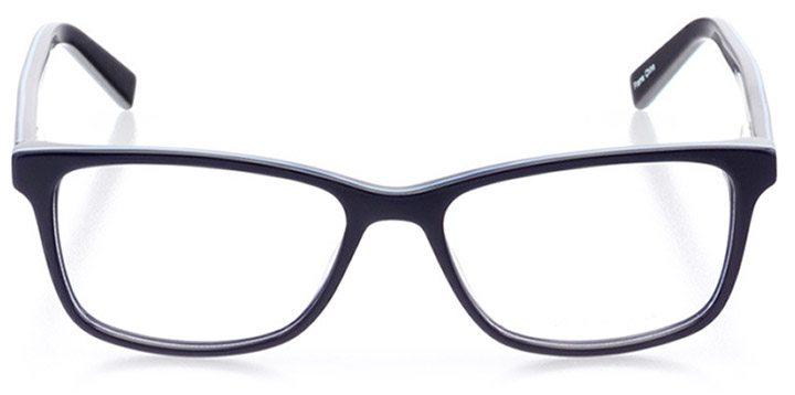 alatri: women's square eyeglasses in blue - front view