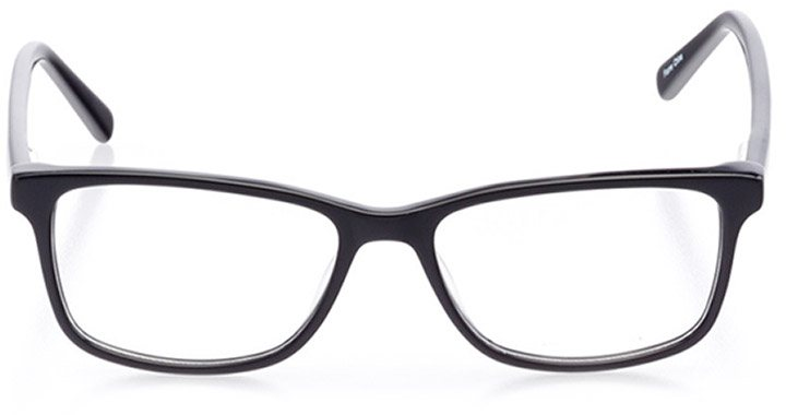 alatri: women's square eyeglasses in black - front view