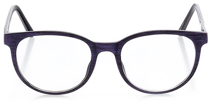 rome: unisex round eyeglasses in purple - front view