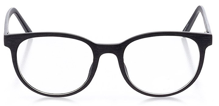 rome: unisex round eyeglasses in black - front view