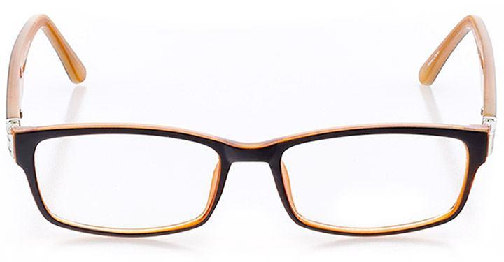 mandalay beach: women's rectangle eyeglasses in orange - front view