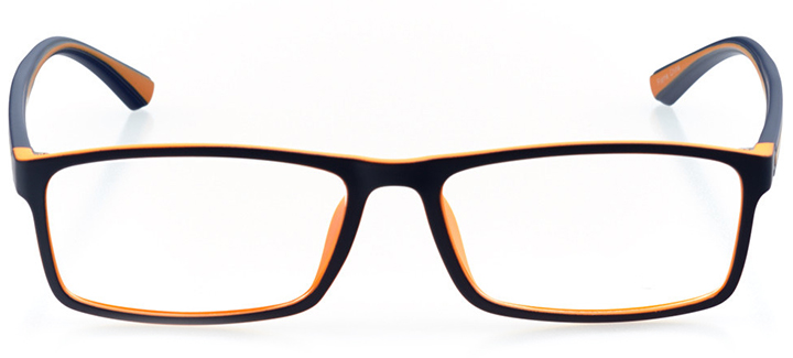 hobe sound: men's rectangle eyeglasses in brown - front view