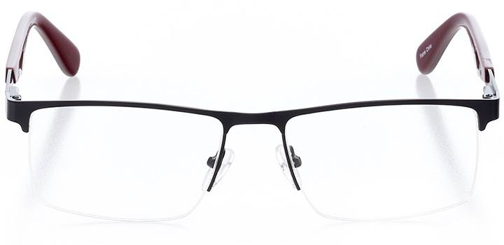 islamorada: men's square eyeglasses in red - front view