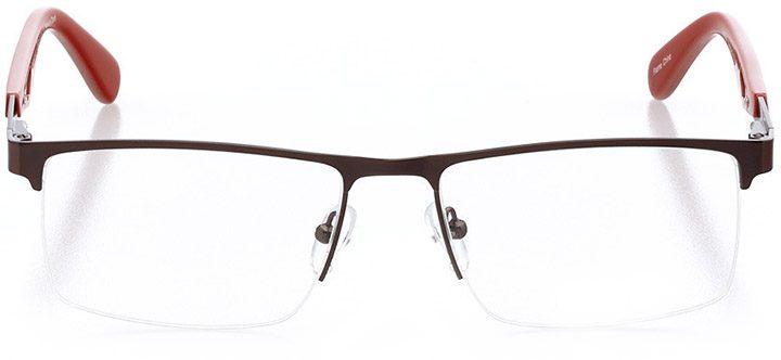 islamorada: men's square eyeglasses in orange - front view