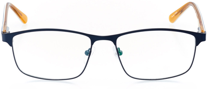 manhattan beach: men's rectangle eyeglasses in orange - front view