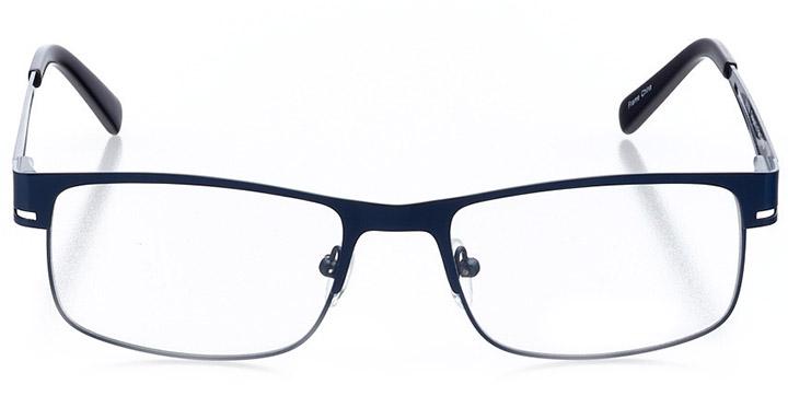jupiter: men's rectangle eyeglasses in blue - front view