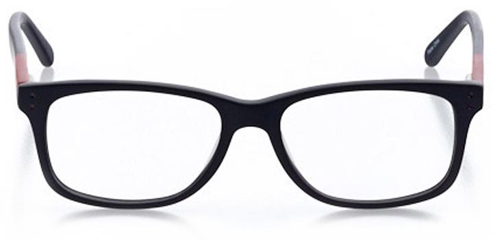 jensen beach: men's square eyeglasses in red - front view