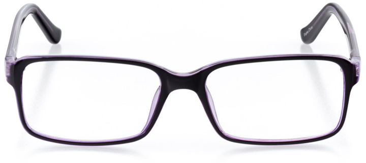 buenos aires: women's square eyeglasses in purple - front view