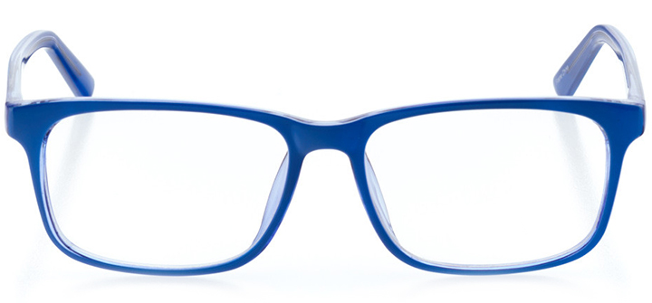 luxembourg city: women's square eyeglasses in blue - front view