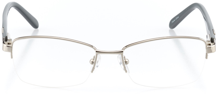 casablanca: women's square eyeglasses in silver - front view