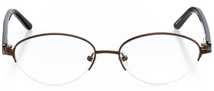 fort-de-france: women's cat eye eyeglasses in brown - front view