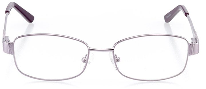 annaba: women's rectangle eyeglasses in purple - front view