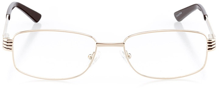 trapani: women's rectangle eyeglasses in brown - front view