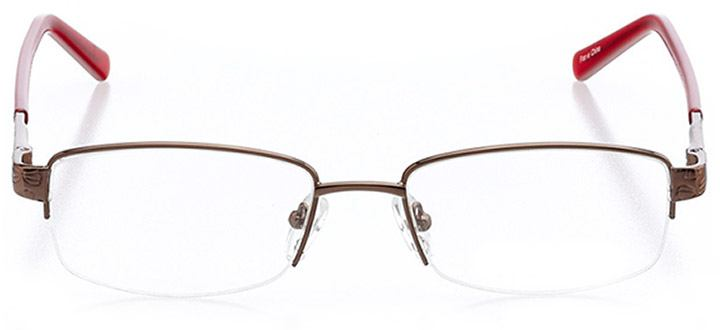 martigues: women's rectangle eyeglasses in red - front view