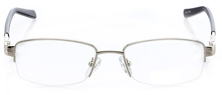 martigues: women's rectangle eyeglasses in silver - front view
