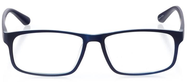 barcelona: men's square eyeglasses in blue - front view