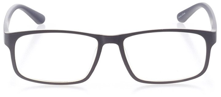 gibraltar: men's square eyeglasses in gray - front view