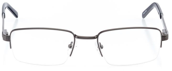 doha: men's rectangle eyeglasses in gray - front view