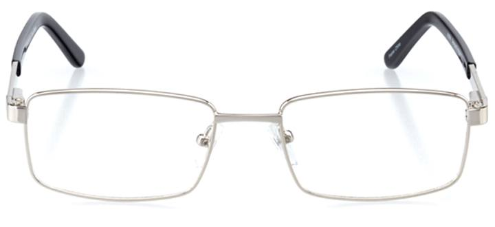 sousse: men's rectangle eyeglasses in black - front view