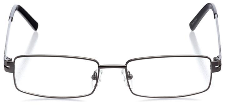 mecca: men's rectangle eyeglasses in gray - front view