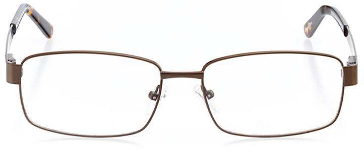 bastia: men's square eyeglasses in tortoise - front view