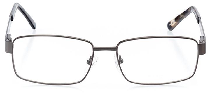 bastia: men's square eyeglasses in gray - front view