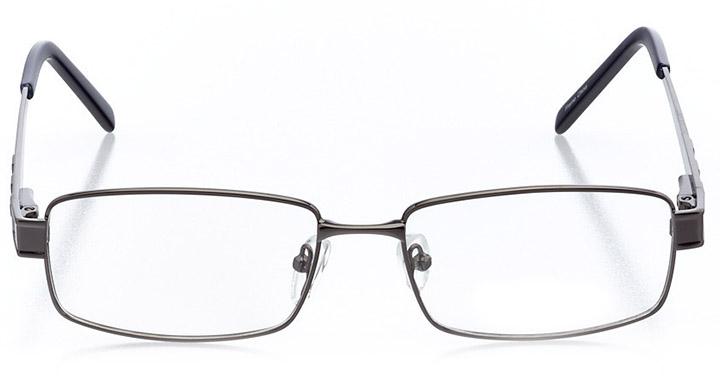 copenhagen: men's rectangle eyeglasses in gray - front view