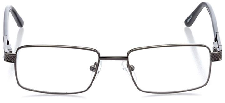 nara: men's rectangle eyeglasses in gray - front view