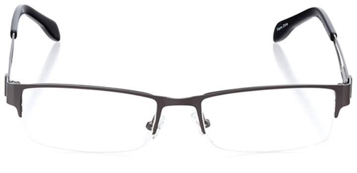belgrade: men's rectangle eyeglasses in gray - front view