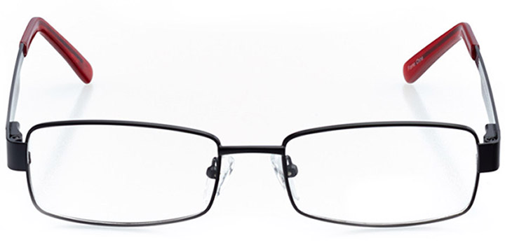 raleigh: men's rectangle eyeglasses in red - front view