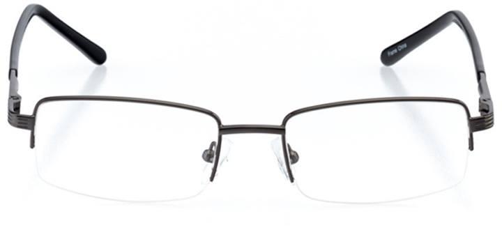 bridgton: men's rectangle eyeglasses in gray - front view