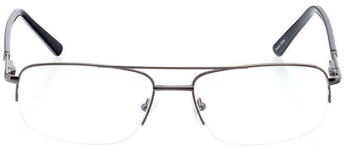 lake tahoe: men's rectangle eyeglasses in gray - front view