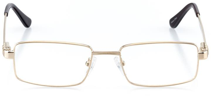 middlebury: men's rectangle eyeglasses in brown - front view