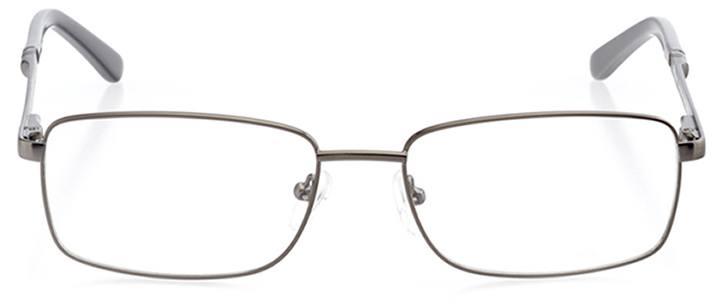 branson: men's rectangle eyeglasses in gray - front view