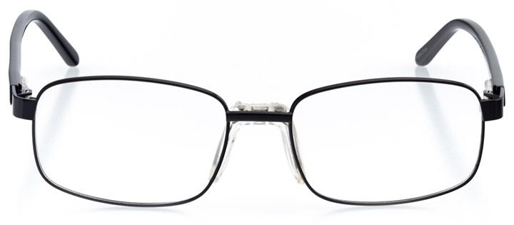 boulder: men's square eyeglasses in black - front view