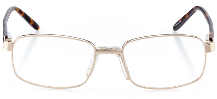 boulder: men's square eyeglasses in gold - front view