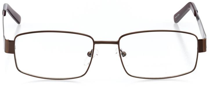 killington: men's rectangle eyeglasses in brown - front view