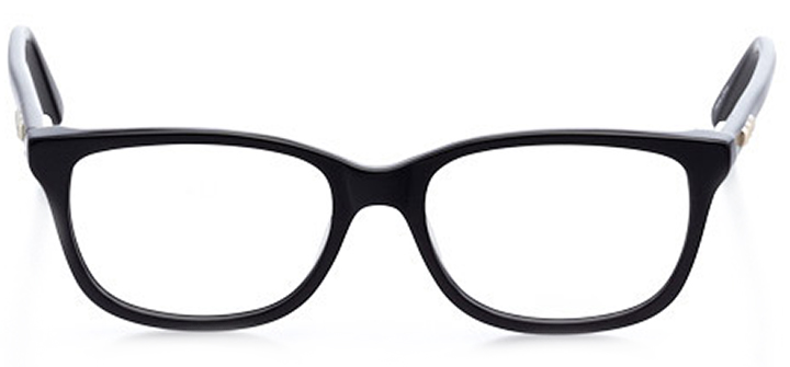safety harbor: women's square eyeglasses in black - front view