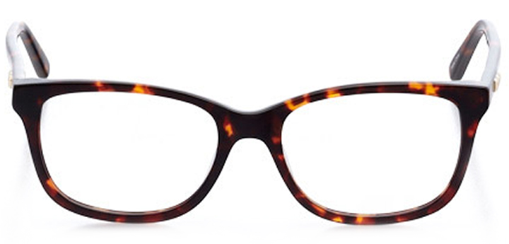 safety harbor: women's square eyeglasses in tortoise - front view